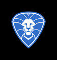 lion shield abstract logo vector image