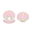 luxury rainbow pearl in a clamshell vector image vector image