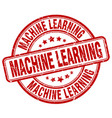machine learning red grunge stamp vector image vector image