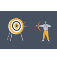man with bow and arrow shout to target vector image