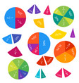 mathematical fractions and percentages vector image vector image