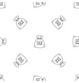 money bag pattern seamless vector image vector image