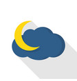 moonlight icon flat style vector image vector image