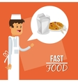 noodle box and fast food design vector image vector image
