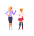 parent adolescent conflict concept vector image vector image
