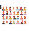 real people portraits set - men and women vector image vector image