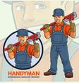 repairman mascot design vector image vector image