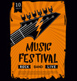rock and roll background indie festival and party vector image vector image