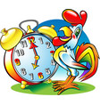 roosterclock vector image