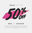 sale up to 50 percent off end of season vector image