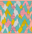seamless pattern with decorative mountains in vector image vector image
