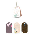 set cute tags with hand drawn watercolor vector image vector image