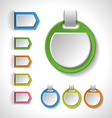Set of colorful blank badges tags banners label vector image vector image