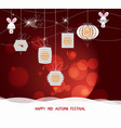 sparkling mid autumn festival lanterns ornaments vector image vector image