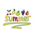 Summer fruits fruit vector image vector image