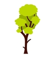 Tall green tree icon flat style vector image vector image