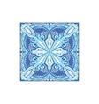Tin-glazed Azulejo Tile Portuguese Famous Symbol vector image vector image