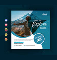 travelling social media promotional post template vector image