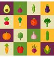 trendy set stylish flat vegetable icons vector image vector image