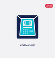 two color atm machine icon from digital economy vector image
