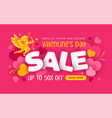 valentines day sale advertising banner vector image vector image