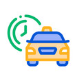 waiting time online taxi icon vector image