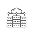 web hosting server data centre distributed vector image