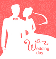 wedding day rose vector image vector image
