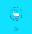 white cachalot logo swimming diving goods vector image vector image