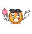 with ice cream pizza character cartoon style vector image vector image
