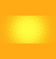 yellow halftone background vector image vector image