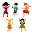 young male female teenagers dancing vector image
