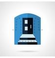 Blue color entrance flat icon vector image