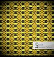 lotus floral mesh ribbon gold vintage geometric vector image