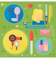 Modern Medicine and healthcare services flat vector image