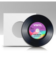 vinyl disc blank isolated white background vector image