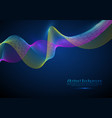 3d particles mesh array wave sound flowing vector image