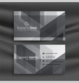 abstract gray geometric business card design vector image vector image