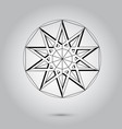 abstract minimal black and white star for design vector image vector image
