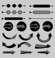 arrow icon set with shadow vector image