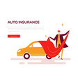 auto insurance - colorful flat design style web vector image