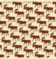 background pattern with moose vector image vector image