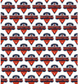 basketball college team seamless pattern vector image