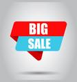 big sale banner badge icon business concept big vector image