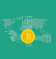 bitcoin cryptocurrency brand icon option with vector image