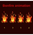 bonfire animation sprites for game design vector image