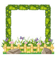 border template with green grass vector image