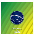Bright background with blue disc of flag Brazil vector image