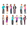 business man woman and people have conversation vector image vector image