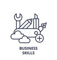 business skills line icon concept business skills vector image vector image